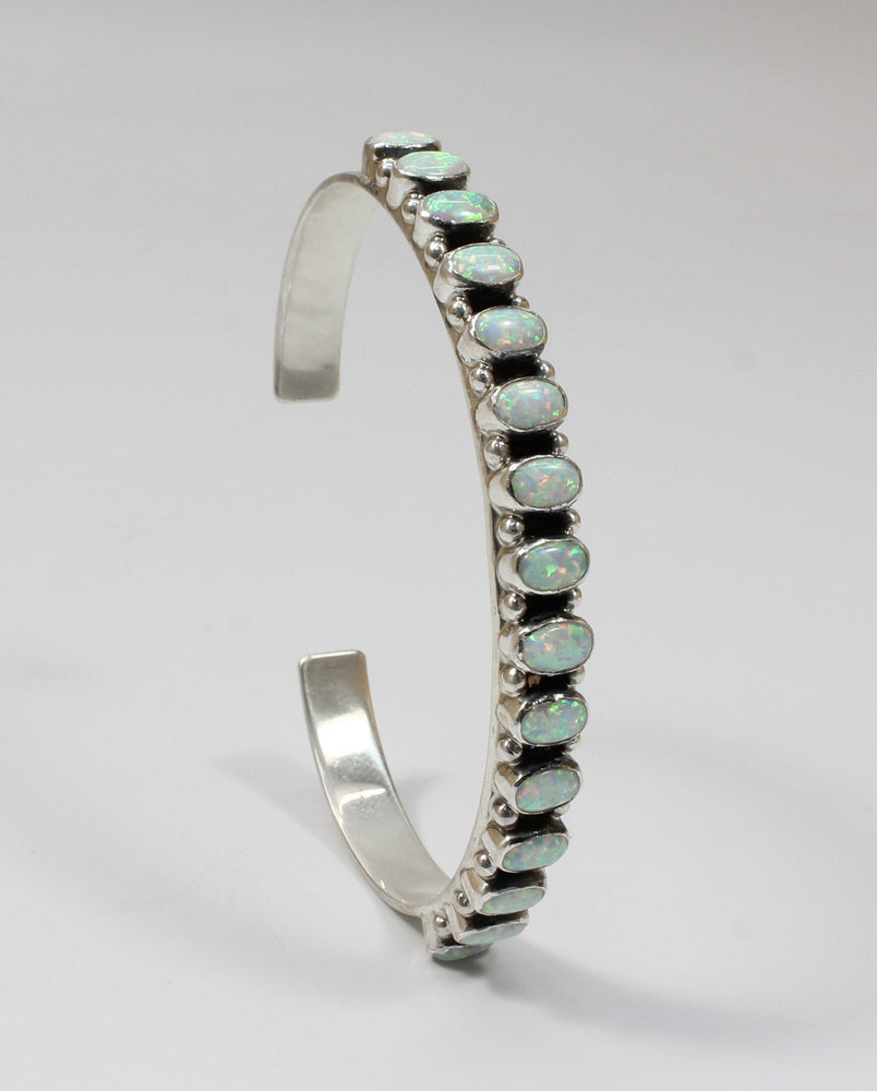 Opal Row Cuff Bracelet-Jewelry-Don Lucas-Sorrel Sky Gallery