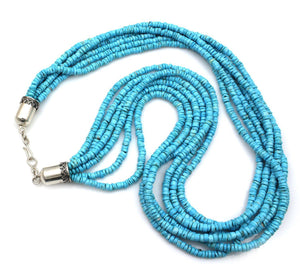 Six Strand Turquoise Necklace-Jewelry-Don Lucas-Sorrel Sky Gallery