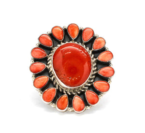 Spiny Oyster And Coral Cluster Ring-Don Lucas-Sorrel Sky Gallery-Jewelry