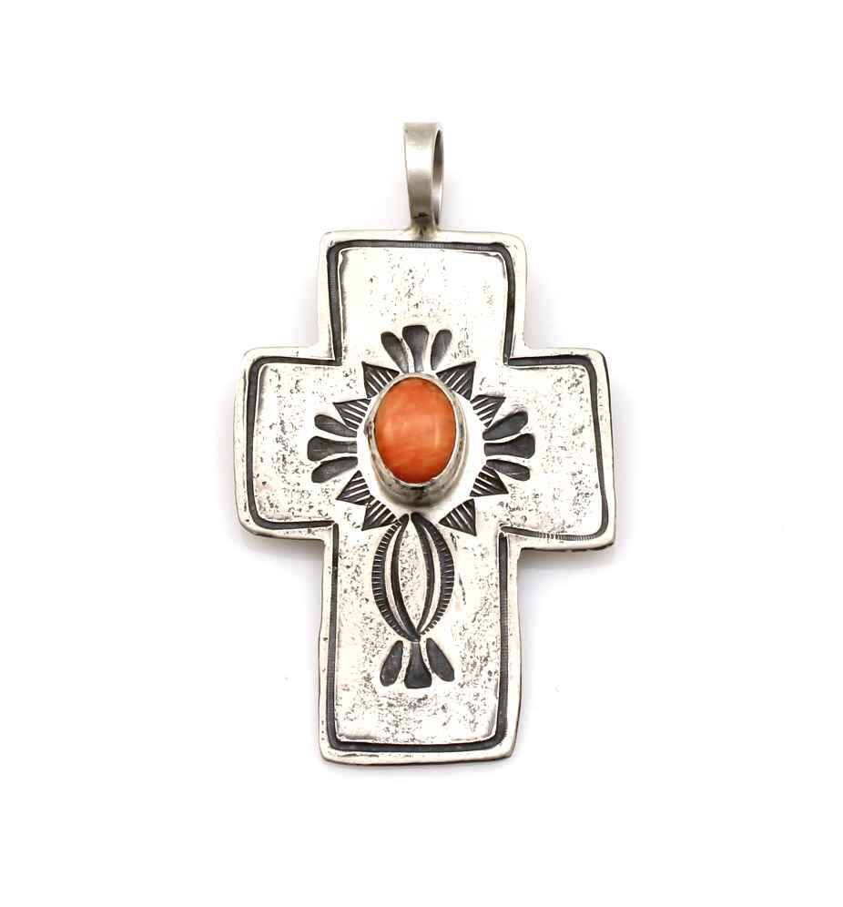 Spiny Oyster Cross Pendant