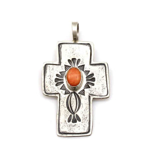 Spiny Oyster Cross Pendant-Jewelry-Don Lucas-Sorrel Sky Gallery