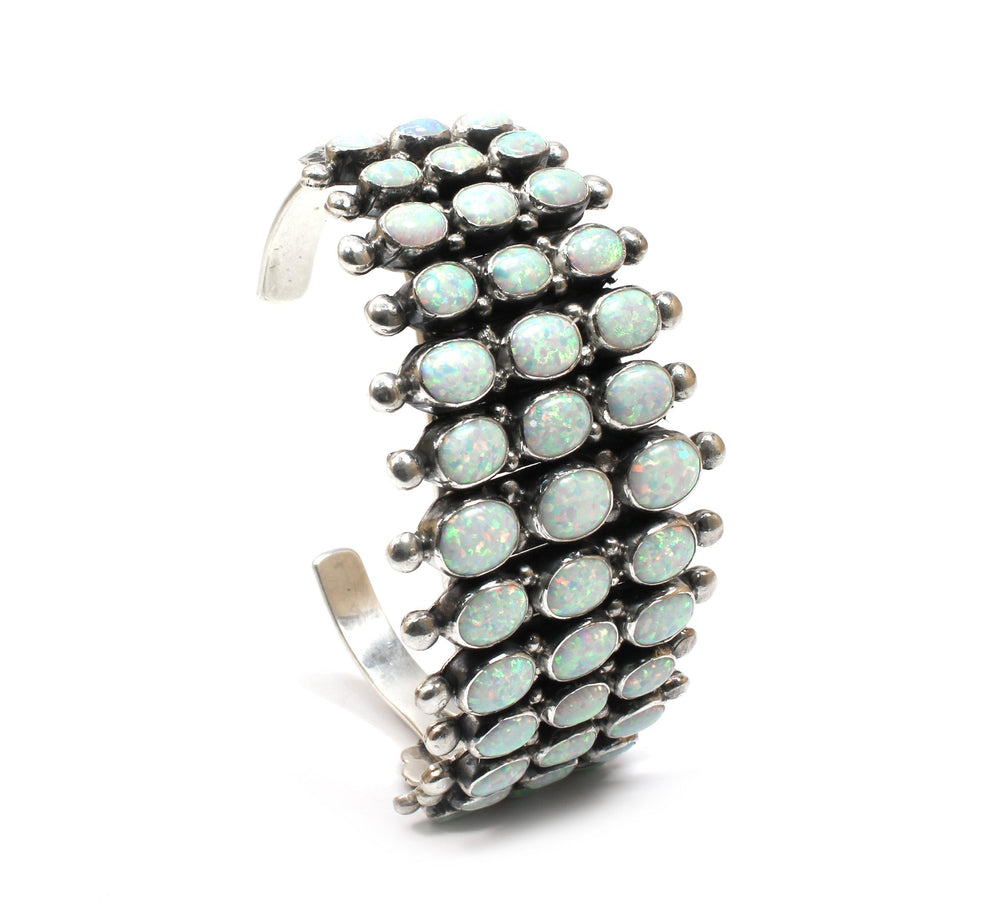 Three Row Opal Cuff Bracelet