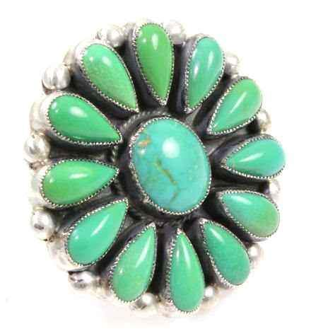 Turquoise Cluster Ring-Don Lucas-Sorrel Sky Gallery-Jewelry