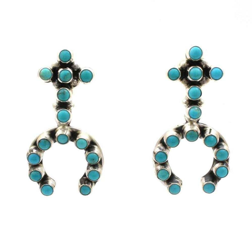 Turquoise Naja With Cross Dangle Earrings