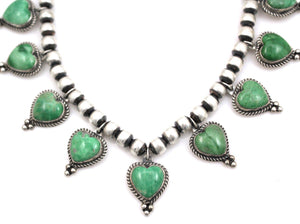 Variscite Heart Necklace-Jewelry-Don Lucas-Sorrel Sky Gallery