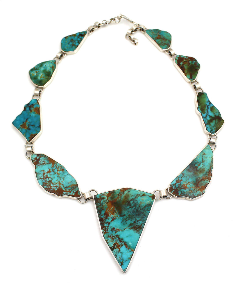 9 Stone Kingman Turquoise Necklace