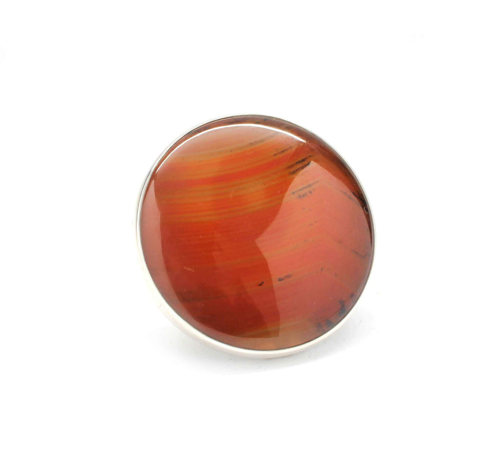 Agate Round Ring