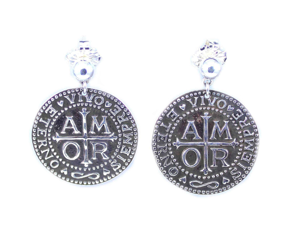 Amor Round Earrings