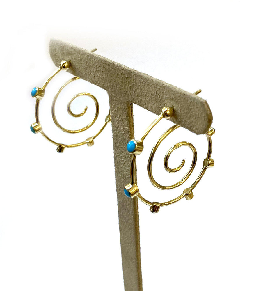 Doug Magnus-Cerrillos Spiral Earrings-Sorrel Sky Gallery-Jewelry