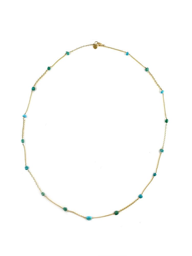 Doug Magnus-Cerrillos Turquoise Nugget Necklace-Sorrel Sky Gallery-Jewelry