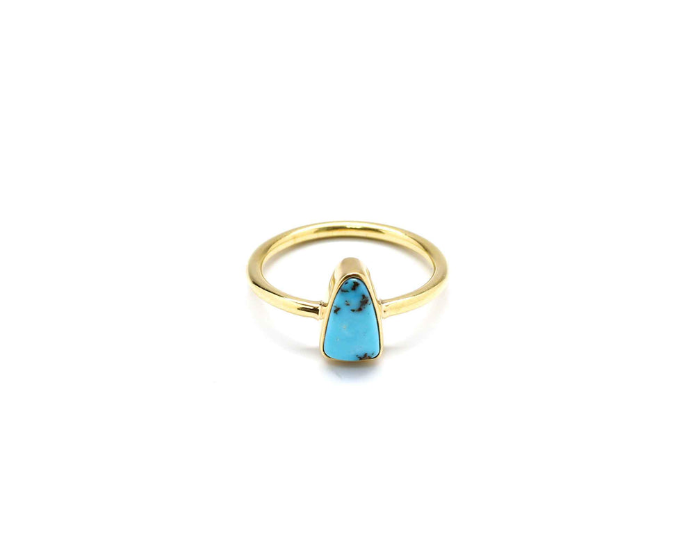 Doug Magnus-Cerrillos Turquoise Stackable Pinkie Ring-Sorrel Sky Gallery-Jewelry