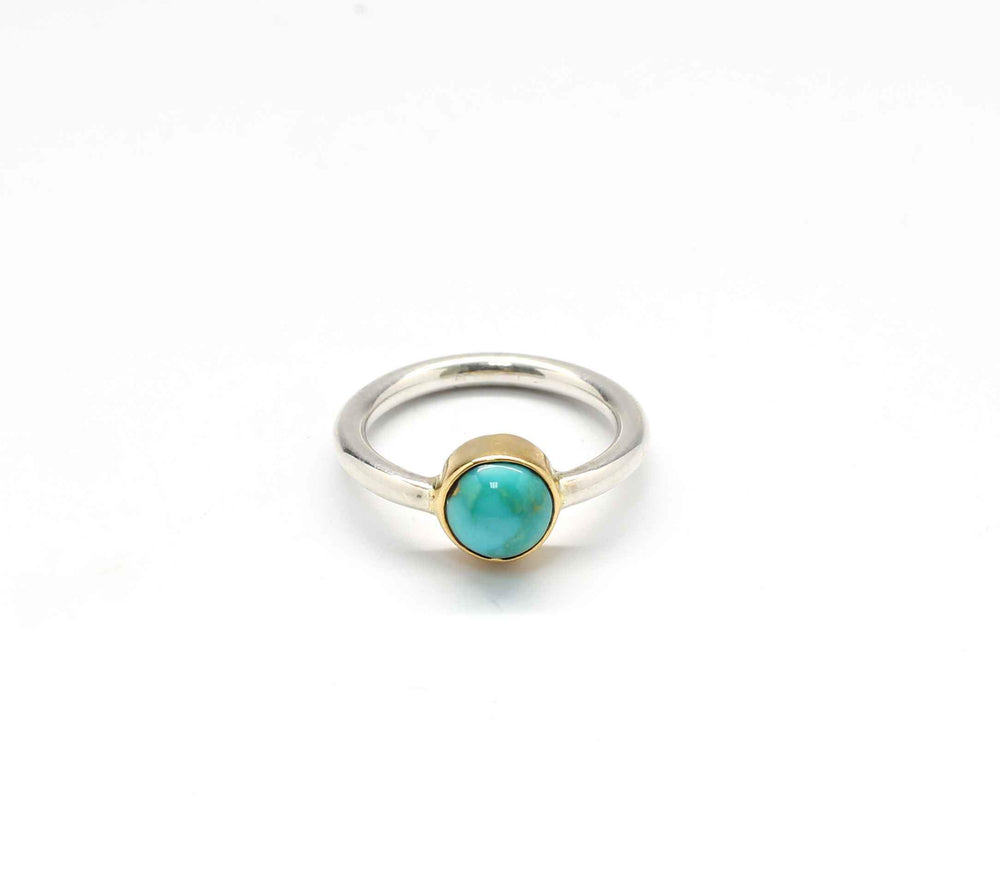 Cerrillos Turquoise Stackable Pinkie Ring