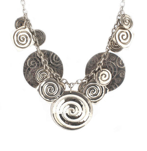 Doug Magnus-Multi-Disk Silver Necklace-Sorrel Sky Gallery-Jewelry