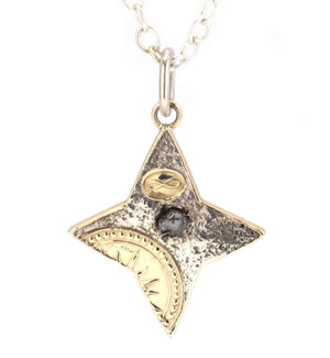 Doug Magnus-Primal Diamond Morning Star Pendant-Sorrel Sky Gallery-Jewelry