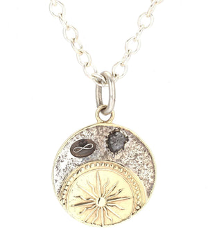 Doug Magnus-Primal Diamond Round Pendant-Sorrel Sky Gallery-Jewelry