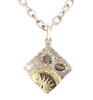Doug Magnus-Primal Diamond Square Pendant-Sorrel Sky Gallery-Jewelry