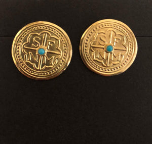 Doug Magnus-Santa Fe Button Earrings-Sorrel Sky Gallery-Jewelry