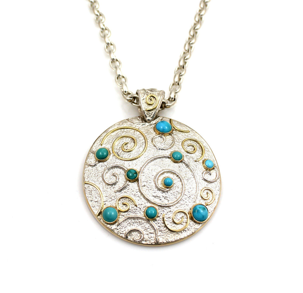 Turquoise Constellation Medallion Pendant