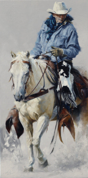 Chasing Heifers-Painting-Doyle Hostetler-Sorrel Sky Gallery