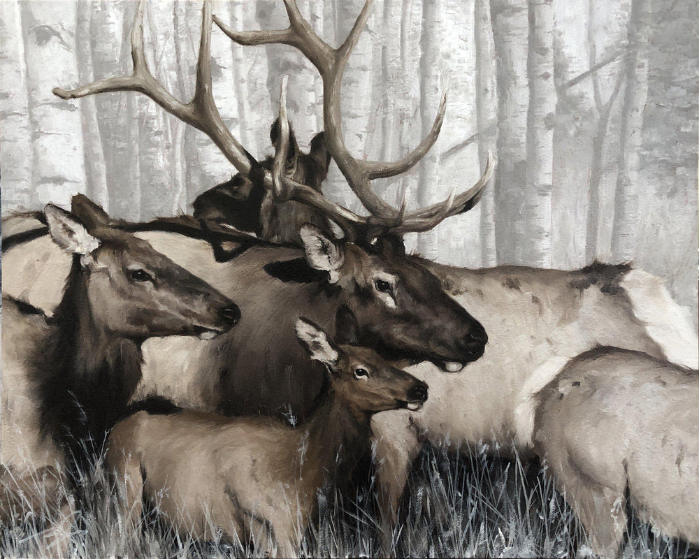 Elk-Painting-Doyle Hostetler-Sorrel Sky Gallery