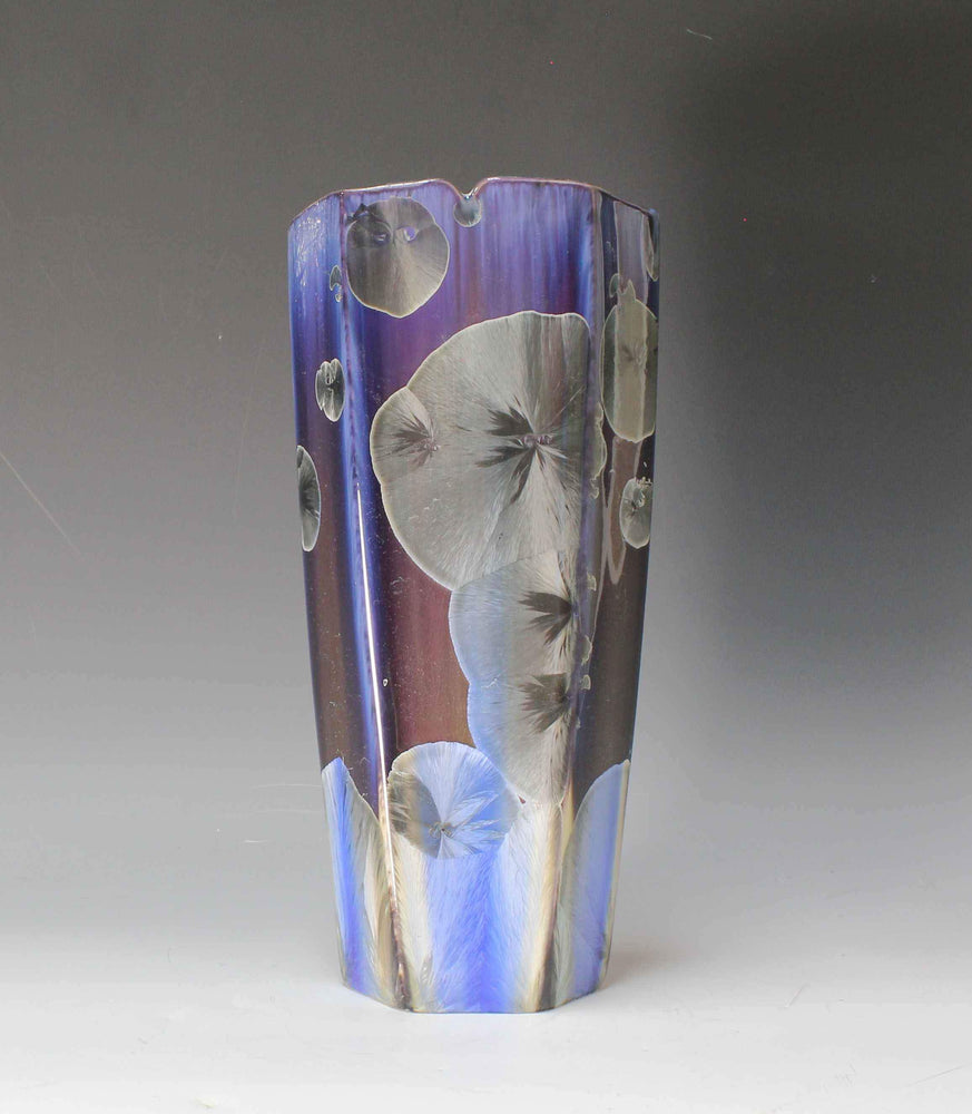 Blue And Gray Flower Vase