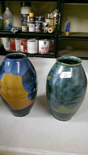 Duly Mitchell-Sorrel Sky Gallery-Pottery-Gold And Blue Vase