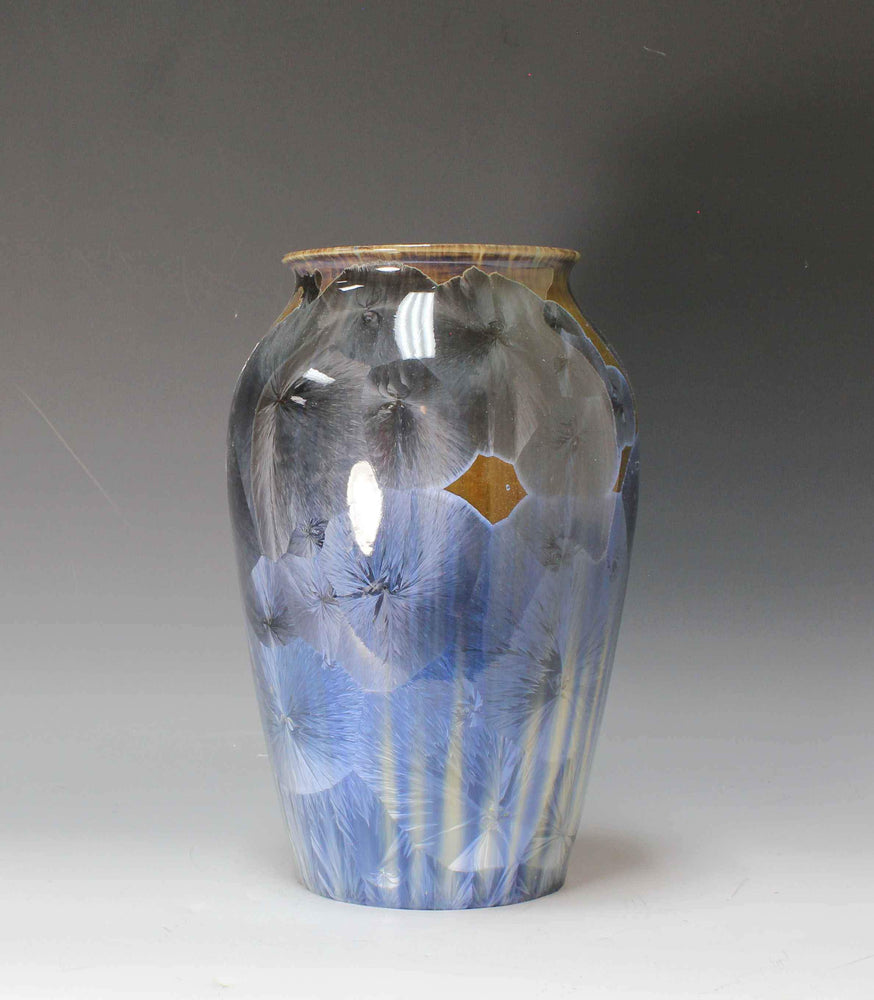 Gray And Blue Flower Vase