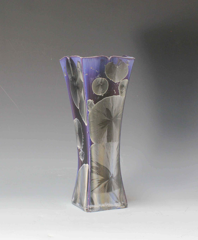Purple And Gray Porcelain Form