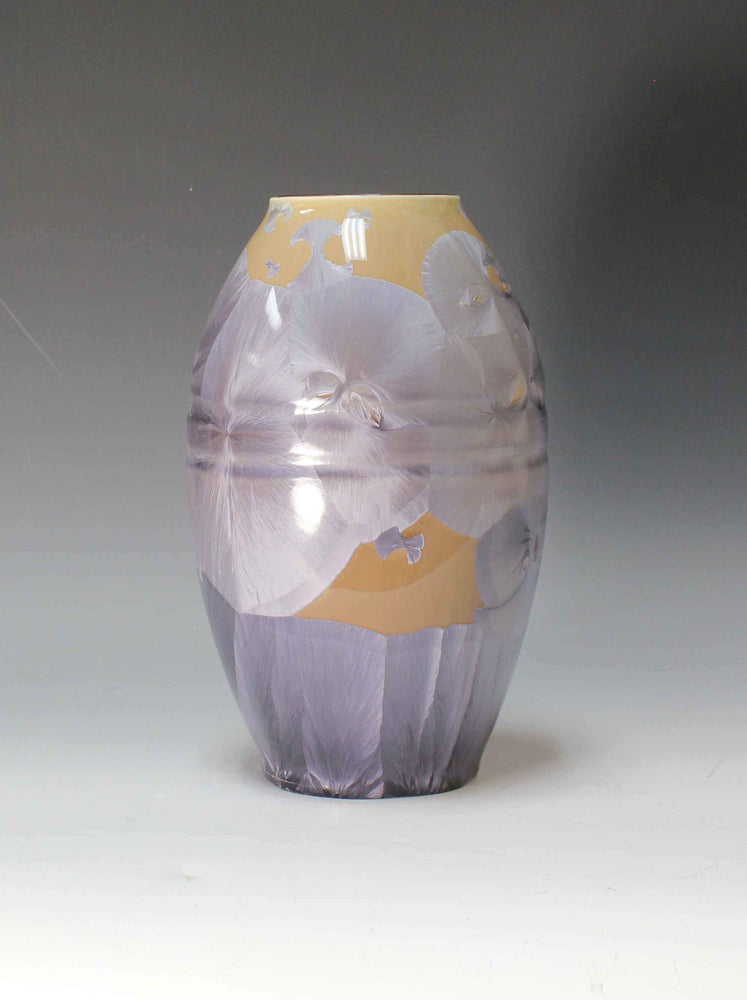 Purple And Tan Porcelain Form