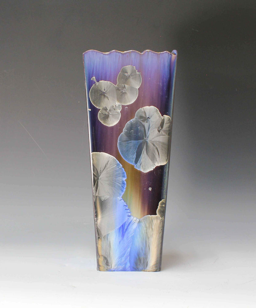 Purple And Tan Vase