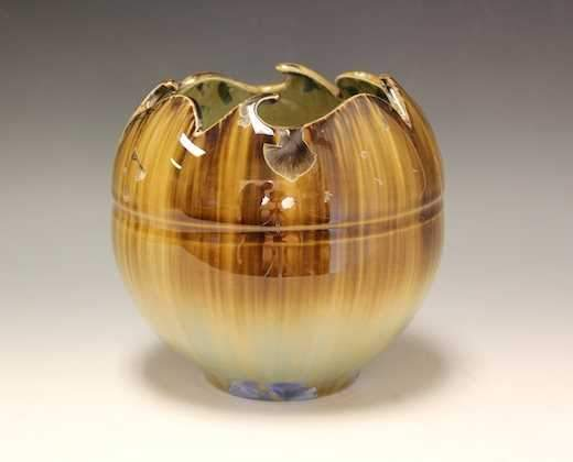 Amber And Blue Bowl