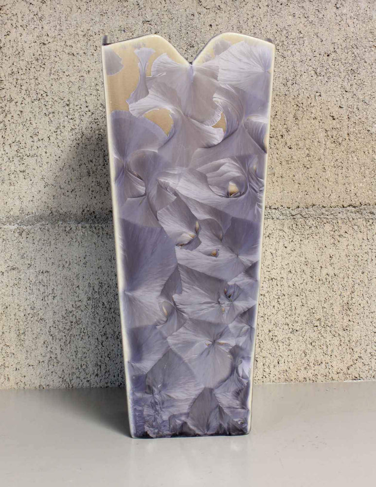 Medium Purple and Tan Flower Vase