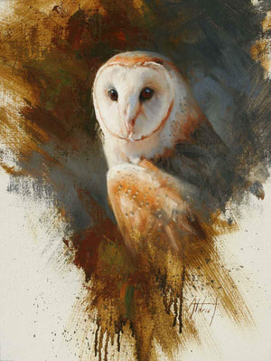 Edward Aldrich-Barn Owl-Sorrel Sky Gallery-Painting