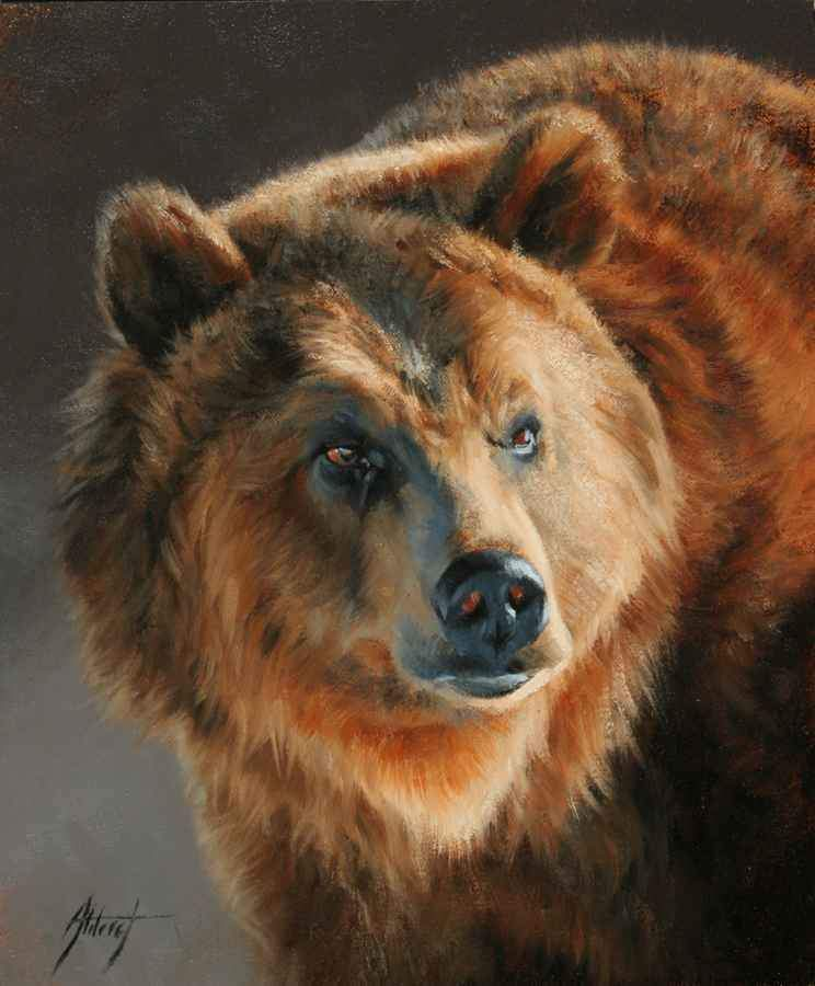 Edward Aldrich-Grizzly Portrait-Sorrel Sky Gallery-Painting