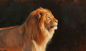 Edward Aldrich-Lion Portrait-Sorrel Sky Gallery-Painting