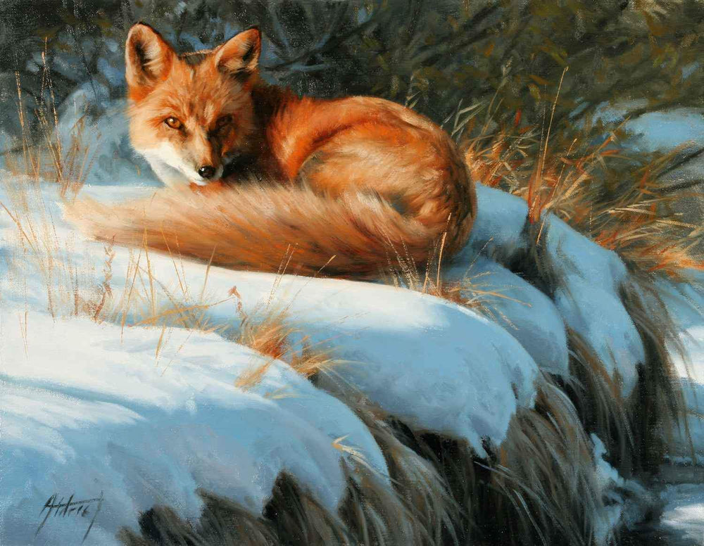 Edward Aldrich-Snowy Repose-Sorrel Sky Gallery-Painting