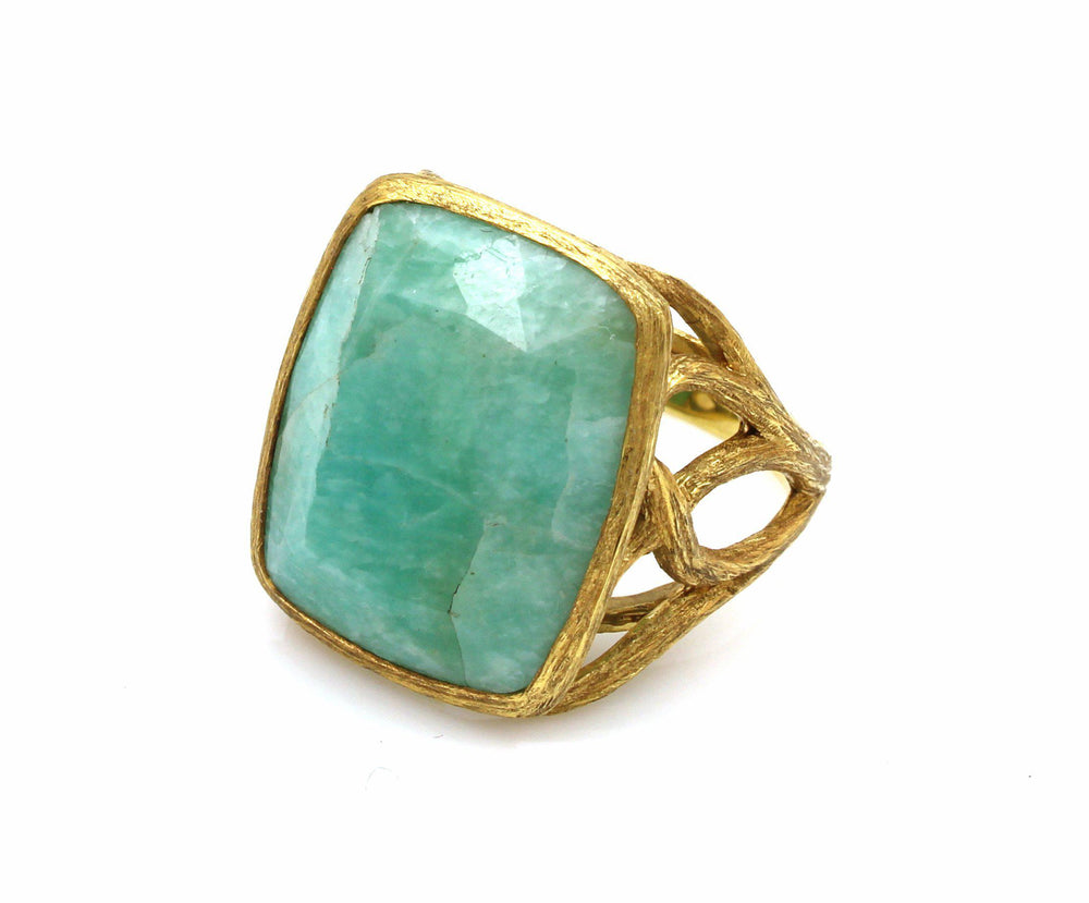 Amazonite Tree Of Life Ring