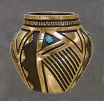 Bronze Vessel with Turquoise