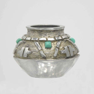 Fred Ortiz-Sorrel Sky Gallery-Sculpture-Pewter Vessel #3