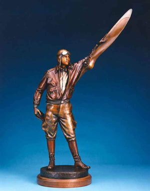 George Lundeen-Sorrel Sky Gallery-Sculpture-Aviator