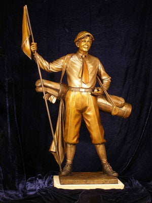 George Lundeen-Sorrel Sky Gallery-Sculpture-Caddy - Lifesize