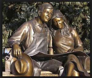 George Lundeen-Sorrel Sky Gallery-Sculpture-Hometown