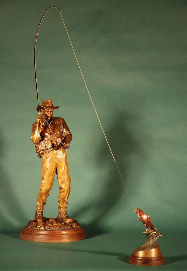 Hooked - Fly Fisherman Maquette