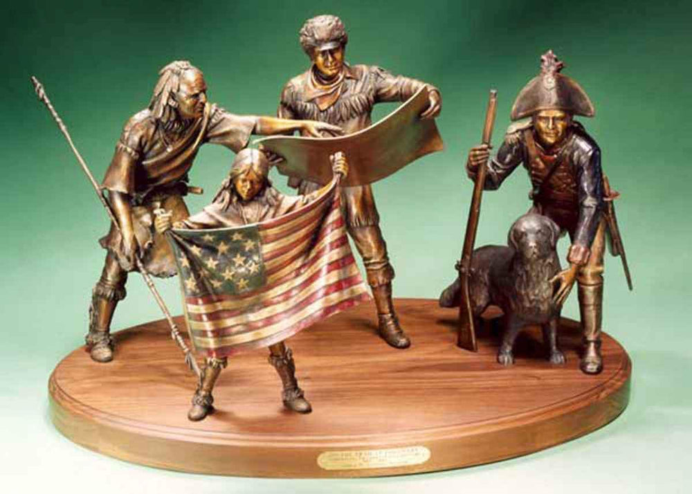 George Lundeen-Sorrel Sky Gallery-Sculpture-On The Trail Of Discovery