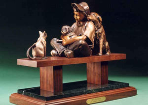 George Lundeen-Sorrel Sky Gallery-Sculpture-Peacekeeper