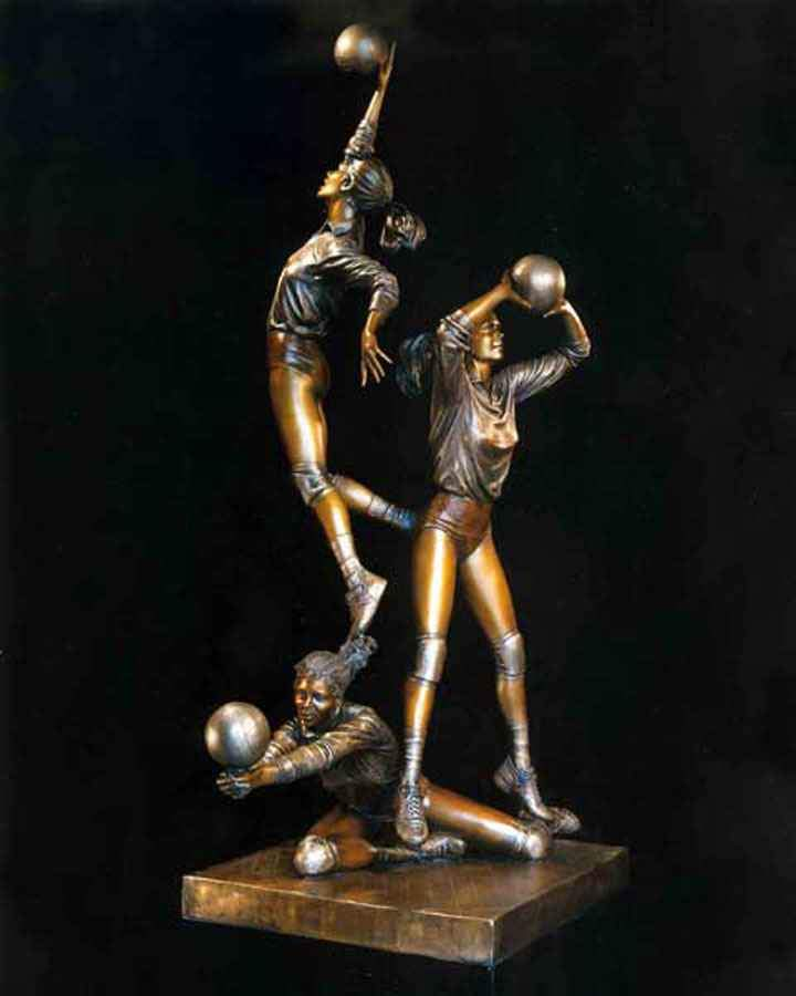 George Lundeen-Sorrel Sky Gallery-Sculpture-Players