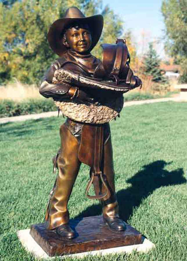 George Lundeen-Sorrel Sky Gallery-Sculpture-Rarin' To Ride Lifesize