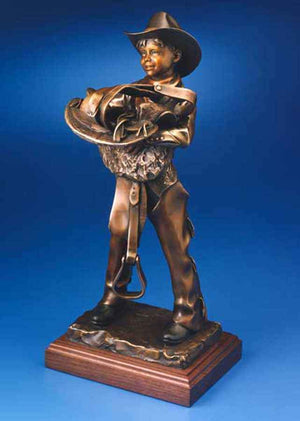 George Lundeen-Sorrel Sky Gallery-Sculpture-Rarin' To Ride