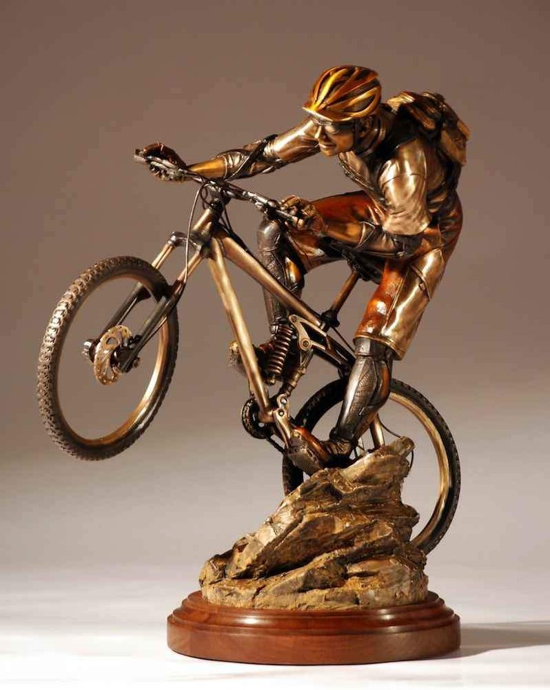 George Lundeen-Sorrel Sky Gallery-Sculpture-Rock And Roll Maquette