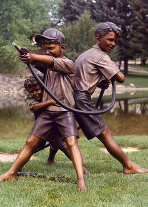 George Lundeen-Sorrel Sky Gallery-Sculpture-Summer Showers Trio